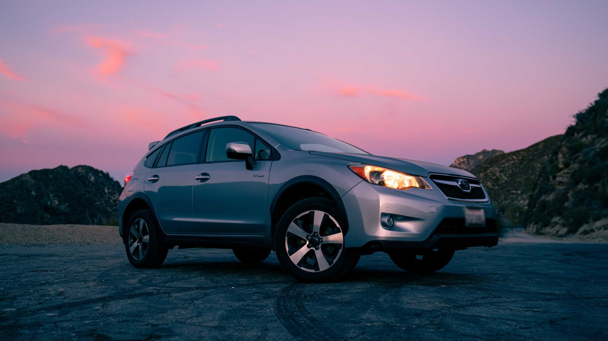 A second hand suv at dusk